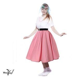 Full Circle Retro Skirt - Pink - S/M - Hey Viv